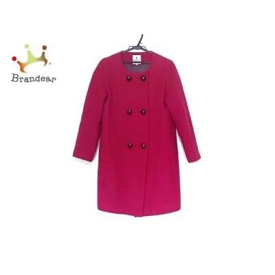 ランバンオンブルー LANVIN en Bleu コート サイズ38 M レディース 美品 ピンク 冬物   スペシャル特価 20210115