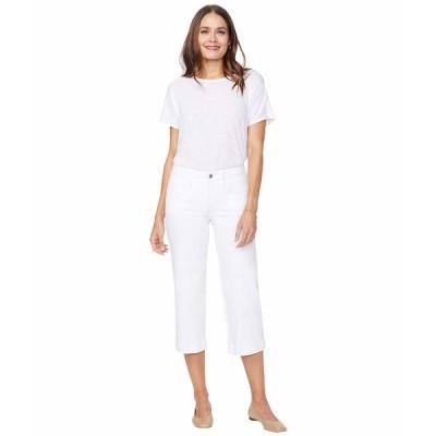 エヌワイディージェイ デニムパンツ ボトムス レディース Wide Leg Capri Jeans with Utility Pockets in Optic White Optic White