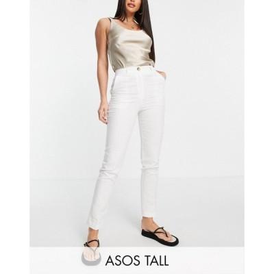 エイソス ASOS Tall レディース ボトムス・パンツ ASOS DESIGN Tall clean cigarette suit trouser ホワイト
