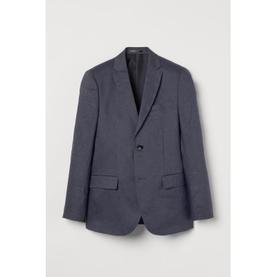 H&M - スリムフィット リネンジャケット - ブルー