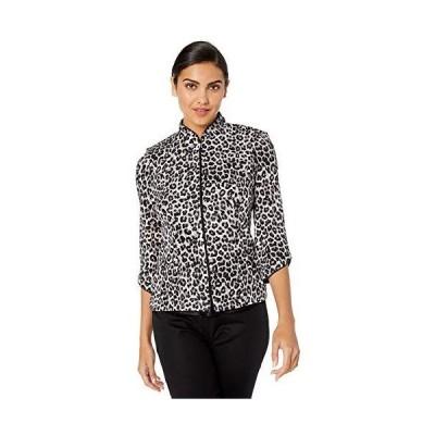 Alex Evenings Women's Printed Zip Jacket with Peplum Hem, White/Multi, S並行輸