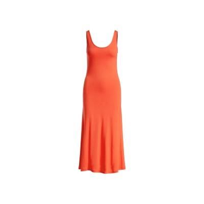 POLO RALPH LAUREN 7分丈ワンピース・ドレス レッド XS レーヨン 100% 7分丈ワンピース・ドレス