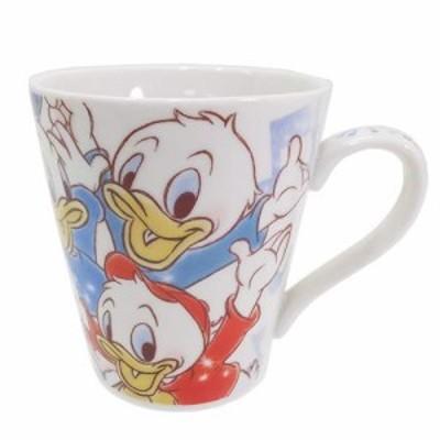 ◆ヒューイ・デューイ・ルーイ  陶器製マグカップ ファジー柄  ディズニー(169)
