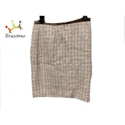 ジャスグリッティー JUSGLITTY スカート サイズ2 M レディース 美品 アイボリー       スペシャル特価 20200424