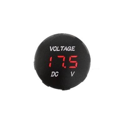 [ホワイト]車のオートバイのための5V-48V電圧計LEDデジタルの電圧計電池のゲージ