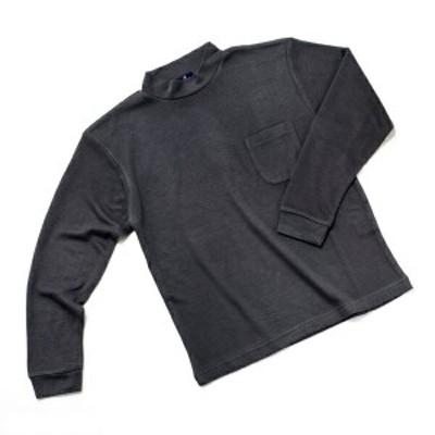 テンセル混 (高混率) あたたか ハイネック メール便配対応可能 胸ポケット付き 長袖カットソー
