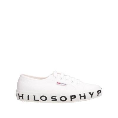 SUPERGA x PHILOSOPHY di LORENZO SERAFINI スニーカー&テニスシューズ(ローカット) ホワイト 35 紡績繊維