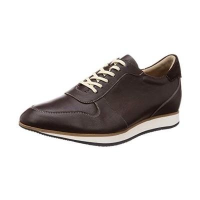 [北嶋製靴工業所] シークレットスニーカー 本革 カジュアルシューズ メンズ 5cmアップ 国産 牛革 紐 (ブラウン 26.0 cm 3E)