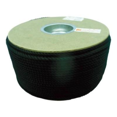 ユタカ ポリエステルロープ ドラム巻 5φ×200m 黒 PRS91 [PRS-91][r20][s9-830]