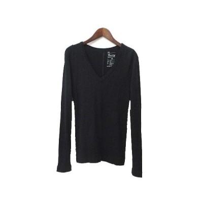 【中古】ギャップ GAP Tシャツ XS 黒 ブラック コットン 長袖 無地 シンプル レディース 【ベクトル 古着】