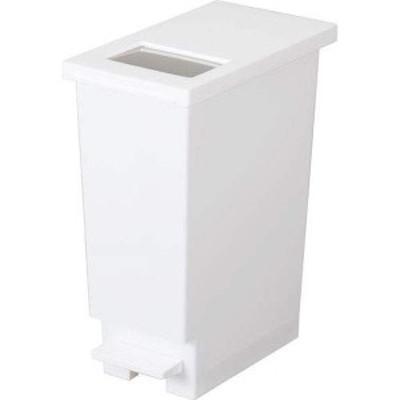 トンボ ユニード プッシュ&ペダルペール ホワイト 20L フタ付きゴミ箱