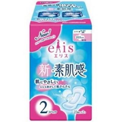 大王製紙 【elis(エリス)】新素肌感 ふつう-多い日の昼用 羽つき 22枚入2個パック