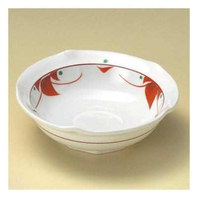 赤紅小花4.8小鉢 和食器 小鉢(大) 業務用 約14.5cm 和食 和風 高級 料亭 甘味 鉢 おひたし 酢の物 和え物 煮物