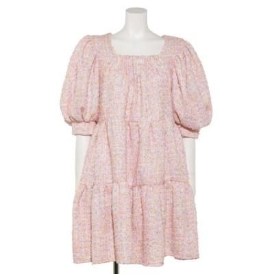 Confetti Tweed Mini Dress