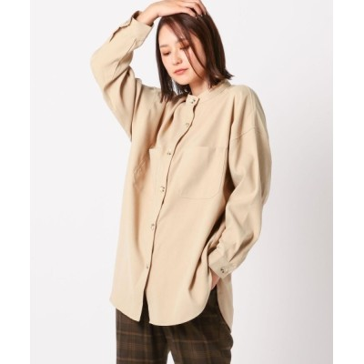 UNRELISH / ピーチスタンドカラーシャツ WOMEN トップス > シャツ/ブラウス