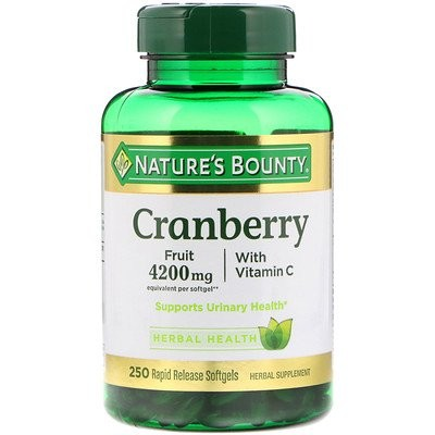 Cranberry with Vitamin C, 250 Rapid Release Softgels