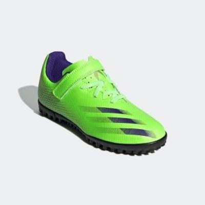 アディダス(adidas)エックス ゴースト.4 TF J ベルクロ( X GHOSTED.4 TF J H&L BOOTS ) FW9574 2020 サッカー トレーニングシューズ
