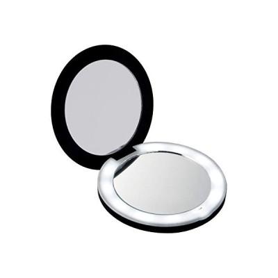 コモライフ(Comolife) 10倍拡大鏡コンパクト2面ミラー(ライト付) 約直径9×厚み1.5cm