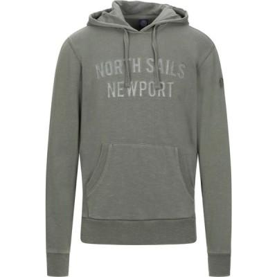 ノースセール NORTH SAILS メンズ スウェット・トレーナー トップス hooded sweatshirt Military green