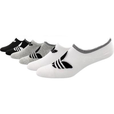 アディダス adidas レディース ソックス 6点セット インナー・下着 Originals Trefoil Super No Show Socks - 6 Pack White/Grey/Black