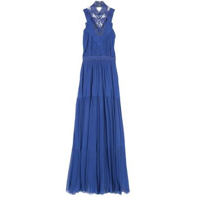 ジェニー GENNY ロングワンピース&ドレス ブルー 40 アセテート 81% / シルク 19% ロングワンピース&ドレス