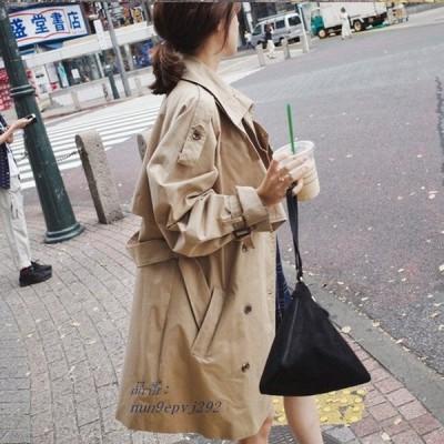 プリングコート レディース トレンチコート  特価販売中 春アウター ロング丈 ミディアム ライトアウター 高品質 大きいサイズ