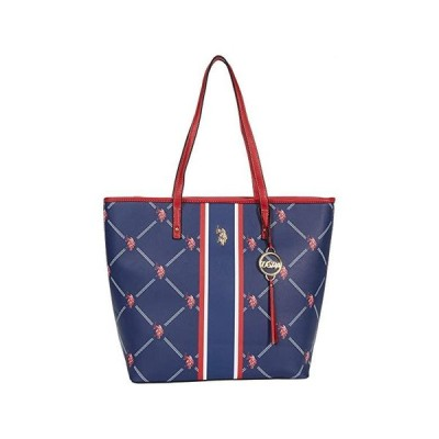 U.S. POLO ASSN. Signature Tote レディース ハンドバッグ かばん Navy/Red