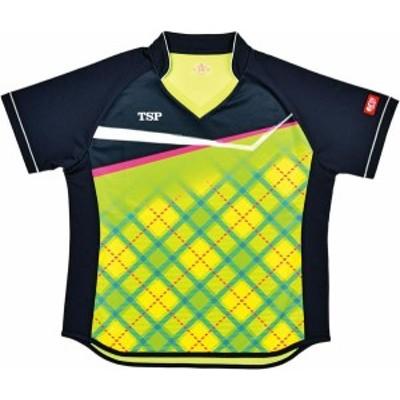 TSP 卓球 女性用 卓球ゲームシャツ レディスサナールシャツ 19 ライム ケームシャツ・パンツ(032415-0280)