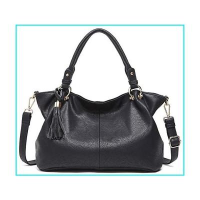 BOYATU Leather Handbags for Women Hobo Tote Bags Shoulder Bag Ladies Purses Black【並行輸入品】
