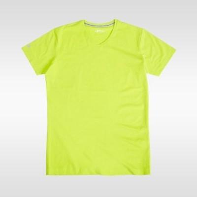 ボディメーカー BODYMAKER 4570016296354 ベーシックTシャツハーフスリーブVネック M ライムグリーン MT221MRG