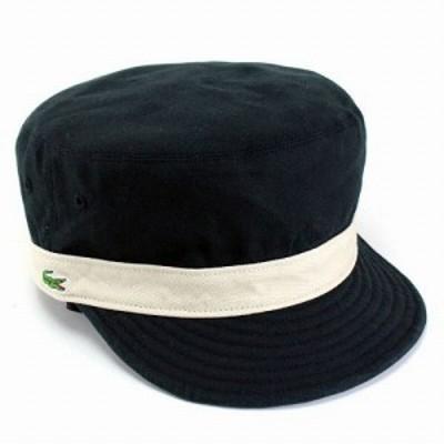 キャップ メンズ 帽子 メンズキャップ リバーシブルワークキャップ ラコステ コットン素材 ブラック・ネイビー