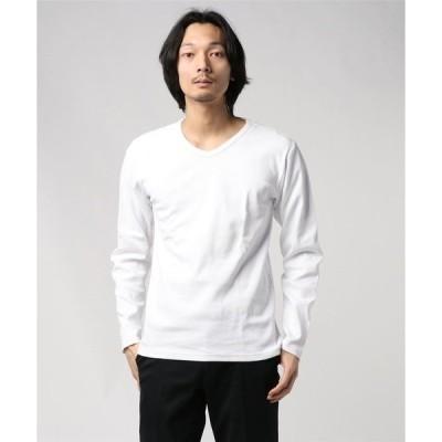 tシャツ Tシャツ AVIREX(アヴィレックス)【DAILY/デイリー】 テレコ Vネック 長袖 Tシャツ/TRECO V-NECK L/S T-S