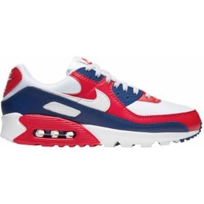 """ナイキ メンズ エアマックス90 Nike Air Max 90 """"USA"""" スニーカー White/White/Deep Royal/University Red"""