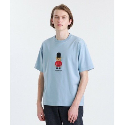 MACKINTOSH PHILOSOPHY(MENS)/マッキントッシュ フィロソフィー メンズ 度詰天竺BB プリントTシャツ ブルー4 40
