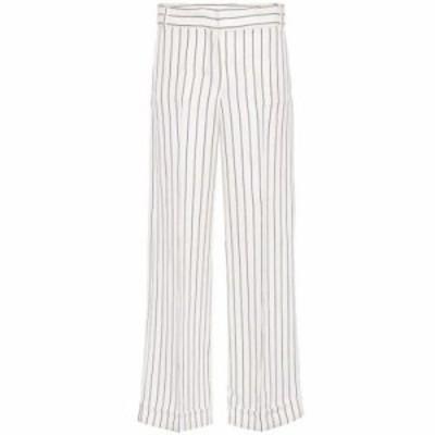 マックスマーラ その他ボトムス・パンツ Milord striped cotton-blend trousers Stripes