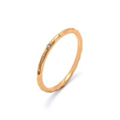 1粒 ダイヤモンド リング 指輪 日本製 レディース K18 イエローゴールド シルバー925 ギフトBOX付き  15号