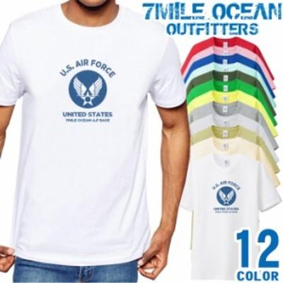 メンズ Tシャツ 半袖 プリント アメカジ 大きいサイズ 7MILE OCEAN ミリタリー