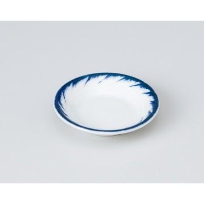 〔美濃焼 小皿〕 渦刷毛型入2.5皿 (3個組)