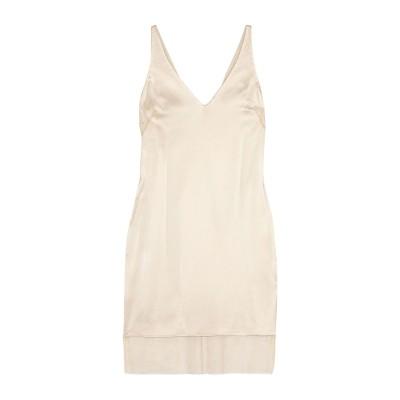 ハニー HANEY ミニワンピース&ドレス ベージュ 4 シルク 100% / ポリエステル ミニワンピース&ドレス