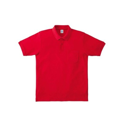 ボンマックス ポケットツキ_CVCカノコドライポロシャツ (MS3114) [色 : レッド] [サイズ : GS]