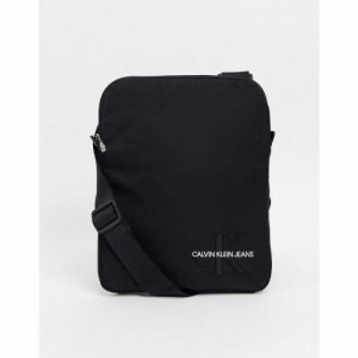 カルバンクライン Calvin Klein Jeans メンズ バッグ monogram nylon flat pack bag ブラック