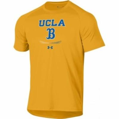 アンダーアーマー Under Armour メンズ Tシャツ トップス UCLA Bruins Gold Tech Performance T-Shirt