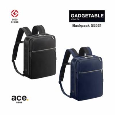 【送料無料】エースジーン(ace. GENE LABEL) ガジェタブル(GADGETABLE) バックパック 9L 55531 A4ファイル/13インチPC対応 ビジネスリュ