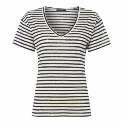 セット SET レディース Tシャツ トップス Stripe T Shirt WHITE