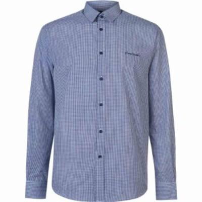 ピエール カルダン Pierre Cardin メンズ シャツ トップス Long Sleeve Shirt Nvy S Gingham