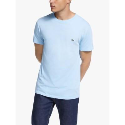 ラコステ Tシャツ メンズ トップス Lacoste Pima Crew Neck T-Shirt, Electric Blue