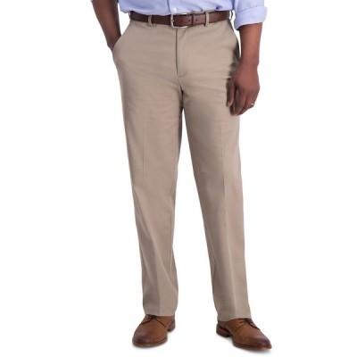 ハガール カジュアルパンツ ボトムス メンズ Men's Iron Free Premium Khaki Classic-Fit Flat-Front Pant Medium Khaki