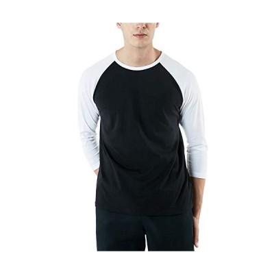 (テスラ)TESLA トレーナー メンズ 七分袖 Tシャツ ドライ スポーツシャツ [UVカット・吸汗速乾] アクティブ 機能性 ランニングウェア M