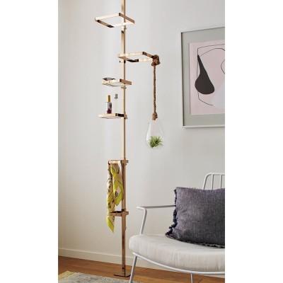 家具 収納 玄関収納 屋外収納 傘立て 玄関周り雑貨 Euphy/ユフィ つっぱりハンガーラック スクエア型 ゴールド H92014