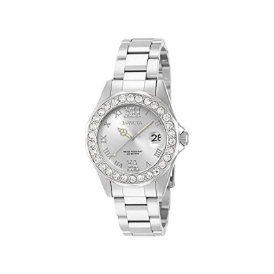 Invicta Women's 15251 Pro Diver Silver Dial Crystal Accented Stainless Stee